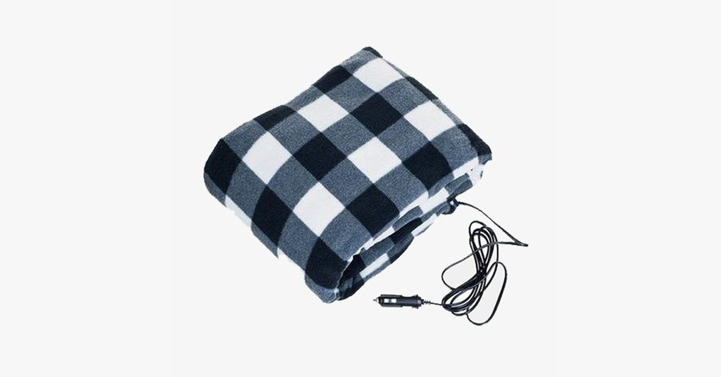 heated car blanket plaid