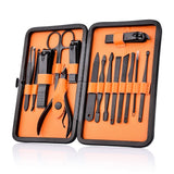 Ultra Grooming™ Kit (15 Piece Professional Manicure Pedicure Facial Care Set with Travel Case)