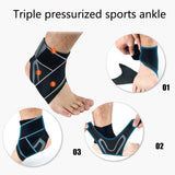 Ankle Compression Wrap Brace for Arch Support, Plantar Fasciitis, Foot Protection