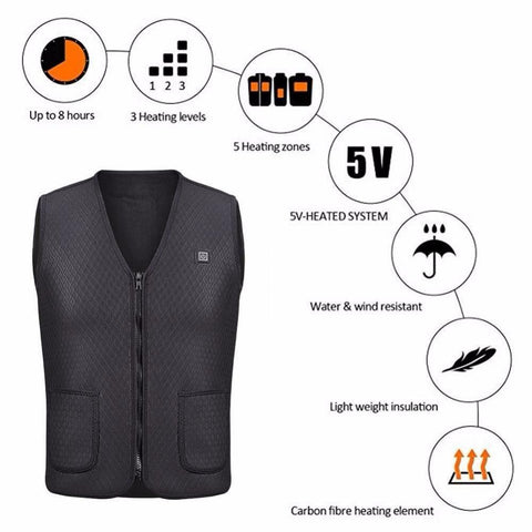 Electric Heated Vest Long Lasting