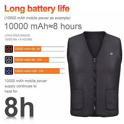 Rechargeable Battery Pack Electric Heating Vest