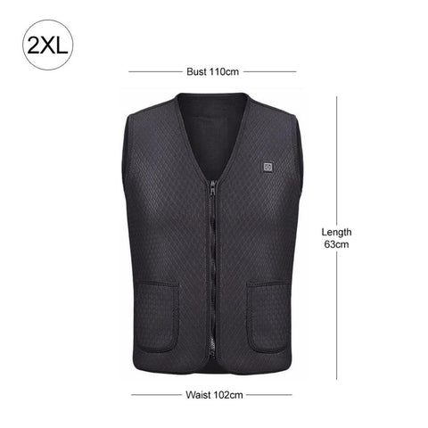 Double 2XL Electric Heating Vest