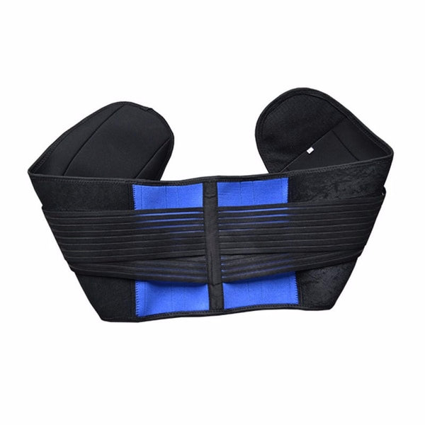 Double Banded Lumbar Support Lower Waist Adjustable Back Belt Brace