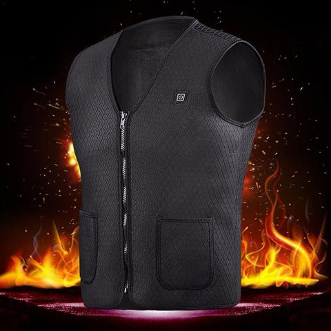 Electric Heated Vest Rechargeable Windproof