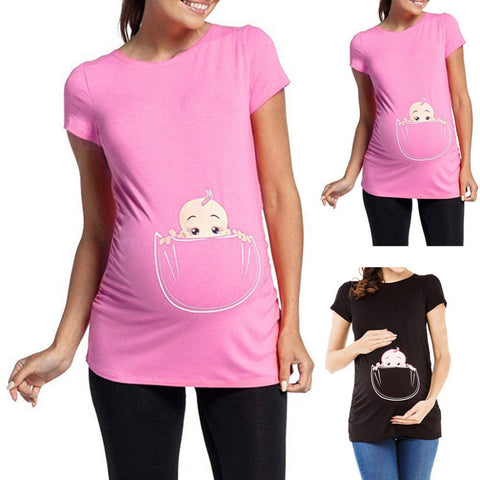 Peek-A-Boo! Baby (Bun In The Oven) Pregnancy Maternity T-Shirt