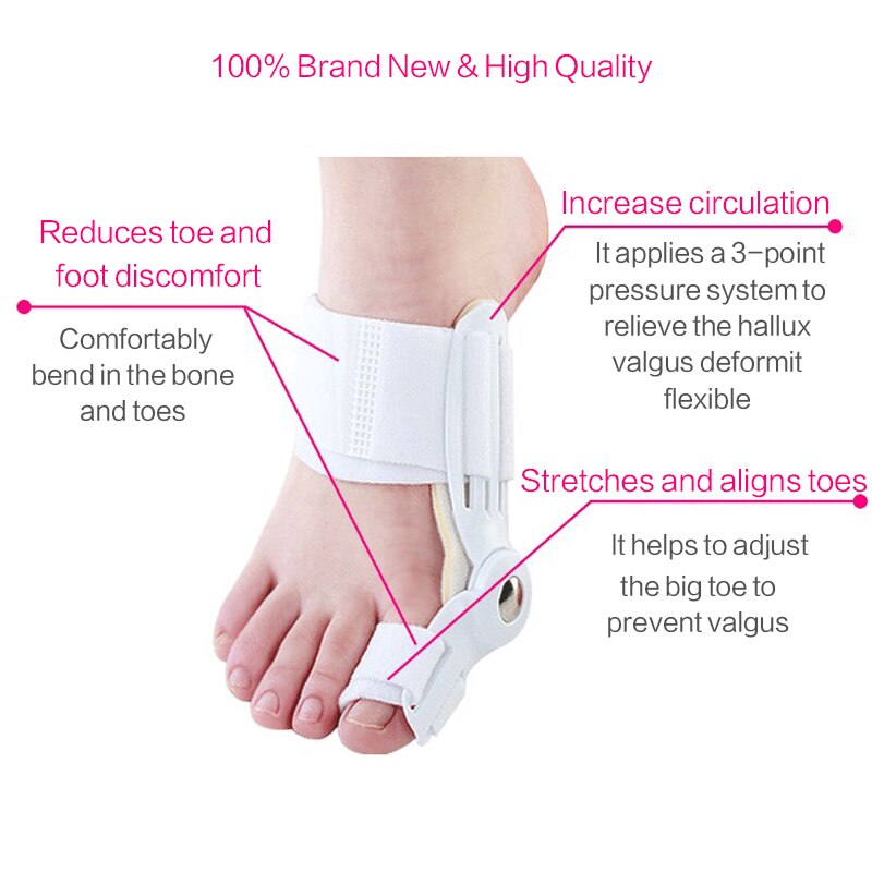 Bunion Ultra Toe Corrector & Bunion Relief Protector Splint Aid for Hallux Valgus, Treat Pain, Hammer Toe, Big Toe Joint Seperator Treatment Spacers