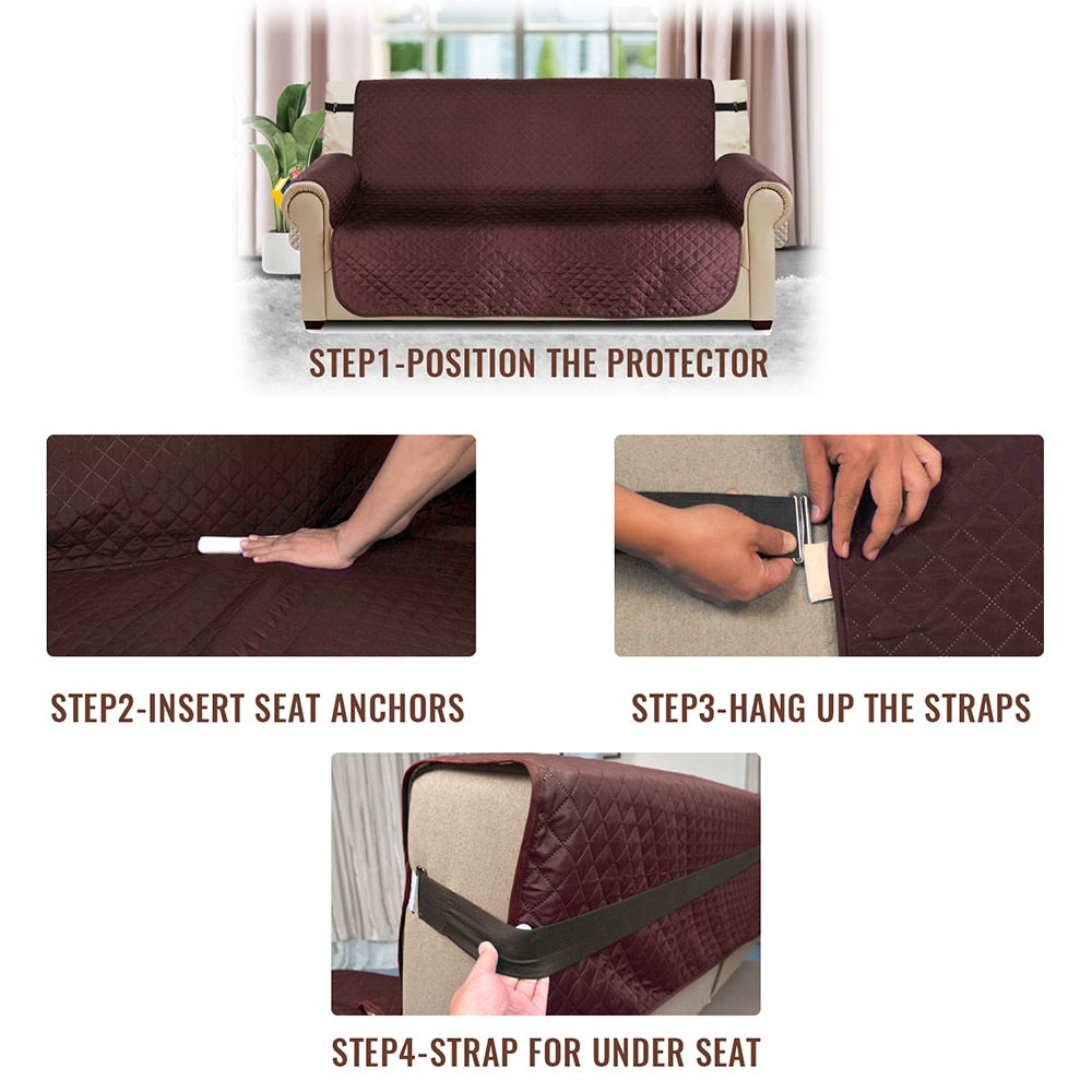 Sofa Guard™ Spill Proof Couch Slipcover Protector with Magazine Holder