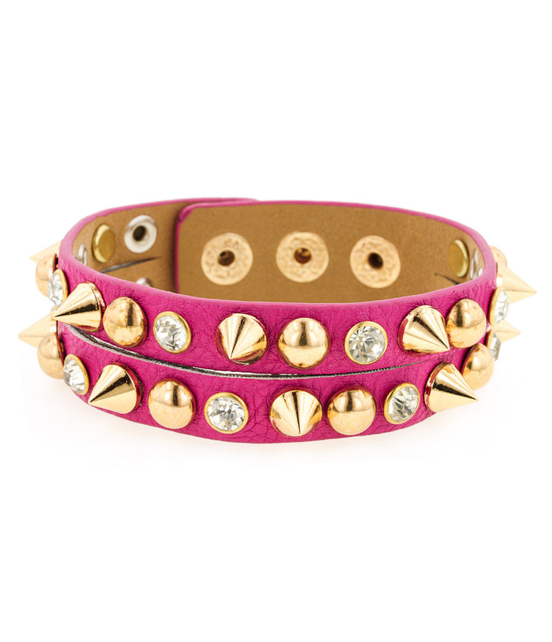 Day of the Dead Triple Stack Howlite Skull Bracelets-Pink/Cream/Black