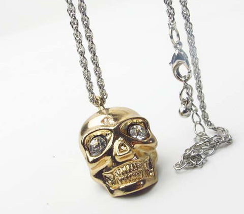 Diamond Eyes Skull Necklace