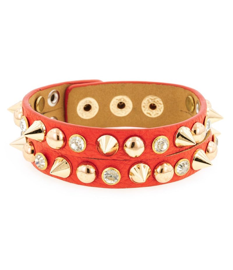 Day of the Dead Jewelry Howlite Skull Bracelet-Red