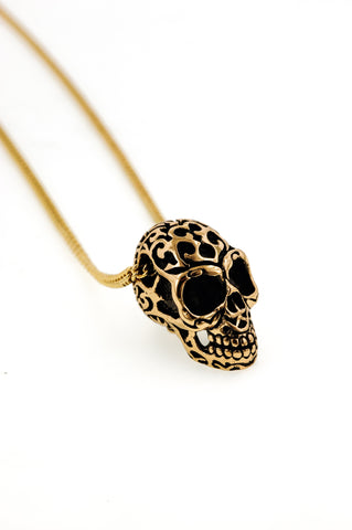Bronze Tribal Skull Necklace