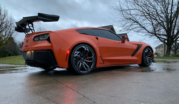 WEAPON-X: ZTK High Wing Brackets  [C7 Corvette ZR1, LT5]