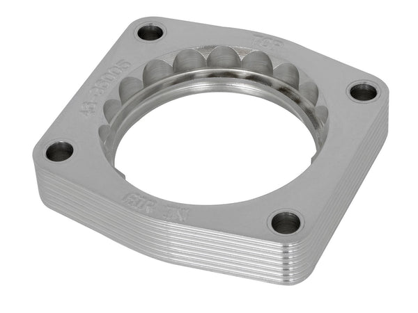 AFE: Silver Bullet Throttle Body Spacer Nissan Patrol (Y61) 01-16 I6-4.8L w/ Automatic Transmission