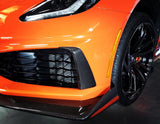 WEAPON-X: ZR1 Front Bumper Vent Brows - Carbon Fiber [C7 Corvette ZR1]