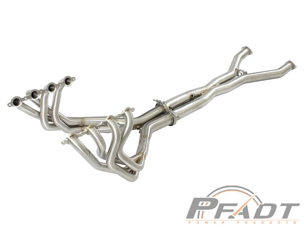 AFE: PFADT Series Tri-Y Long Tube Header & X-Pipe; Race Series Chevrolet Corvette (C5) 97-04 V8-5.7L (LS1/LS6)