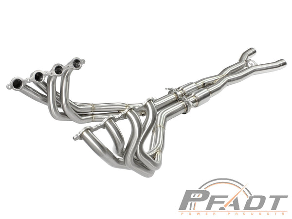 AFE: PFADT Series Tri-Y Long Tube Header & X-Pipe; Street Series Chevrolet Corvette Z06/ZR1 (C6) 06-13 V8-6.2L/7.0L (LS9/LS7)