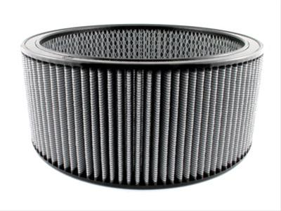 AFE: Round Racing Air Filter w/Pro DRY S Filter Media 14 OD x 12 ID x 6 H in E/M