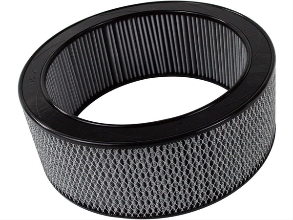 AFE: Round Racing Air Filter w/Pro DRY S Filter Media 14 OD x 11 ID x 5 H in E/M