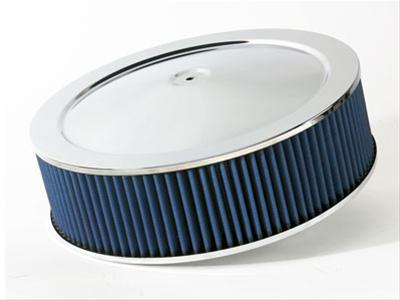 AFE: Magnum FLOW Pro 5R Air Filter Chrome Assembly; 14 D x 4 H in E/M