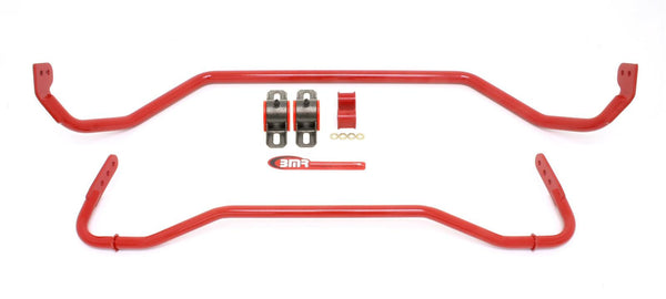 BMR: 2008-2009 Pontiac G8 Sway bar kit with bushings, front (SB012H) and rear (SB013H) Red