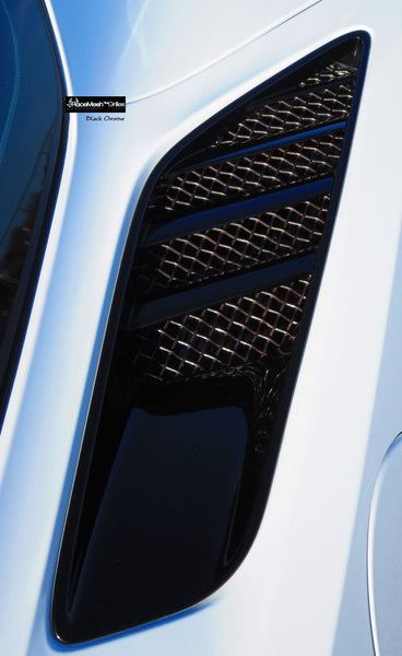 RaceMesh Grilles: Rear Quarter Panel Vent [C7 Corvette, LT1]