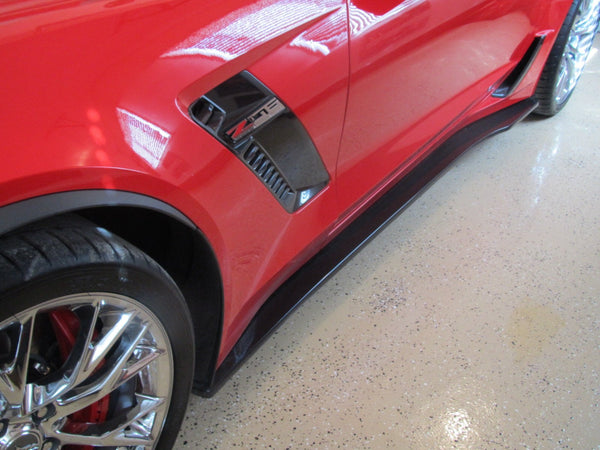 WEAPON-X: WEAPON7 Rocker Blades Side Skirts  [C7 Corvette Grand Sport, Z06]