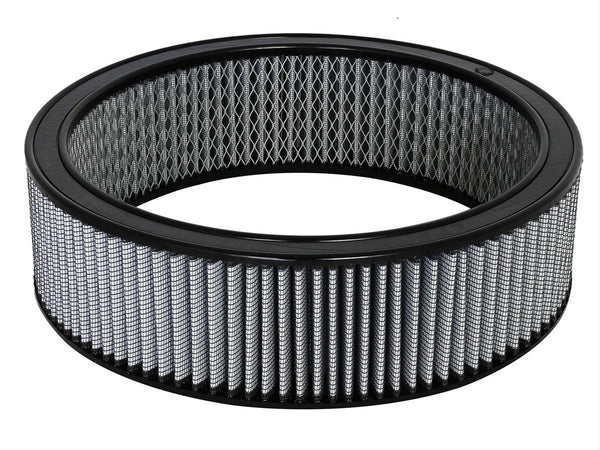 AFE: Round Racing Air Filter w/Pro DRY S Filter Media 14 OD x 12 ID x 4 H in E/M