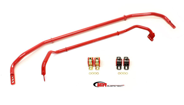 BMR: 2012 Chevrolet Camaro SS Sway bar kit with bushings, front (SB016H) and rear (SB033H) Red