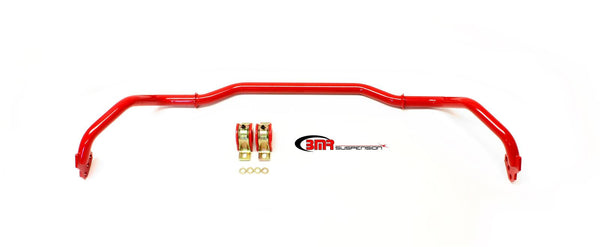 BMR: 2013-2015 Chevy Camaro Sway bar kit with bushings, front, adjustable, hollow 29mm (Red)