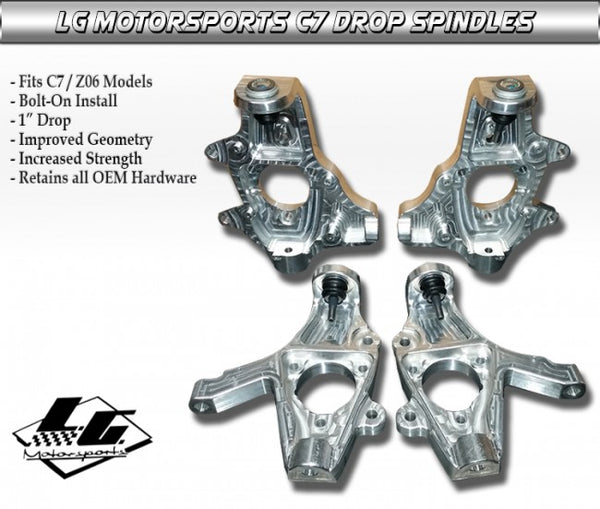 LG Motorsports:  Drop Spindles  [C7 Corvette, GS, Z06, ZR1]