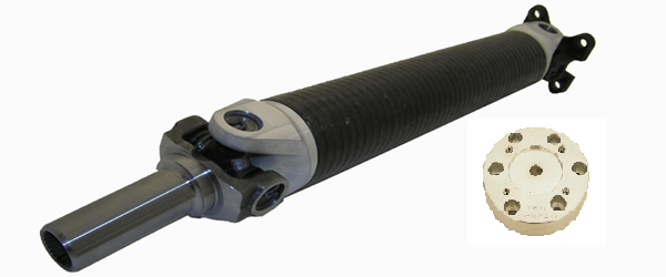 Driveshaft Shop: MITSUBISHI 1990-1994 Eclipse / Talon Carbon Fiber Heavy-Duty Driveshaft with (25 Spline Yoke for Shep Trans Case Upgrade)