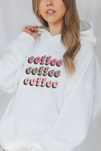 Colorful Coffee hoodie.