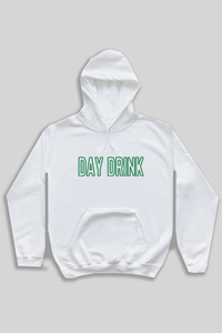 Day Drink hoodie - white.