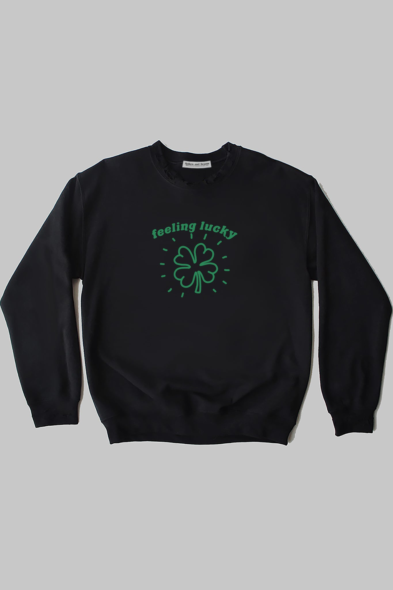 Feeling Lucky sweatshirt - black.