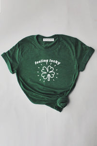 Feeling Lucky shirt - green.