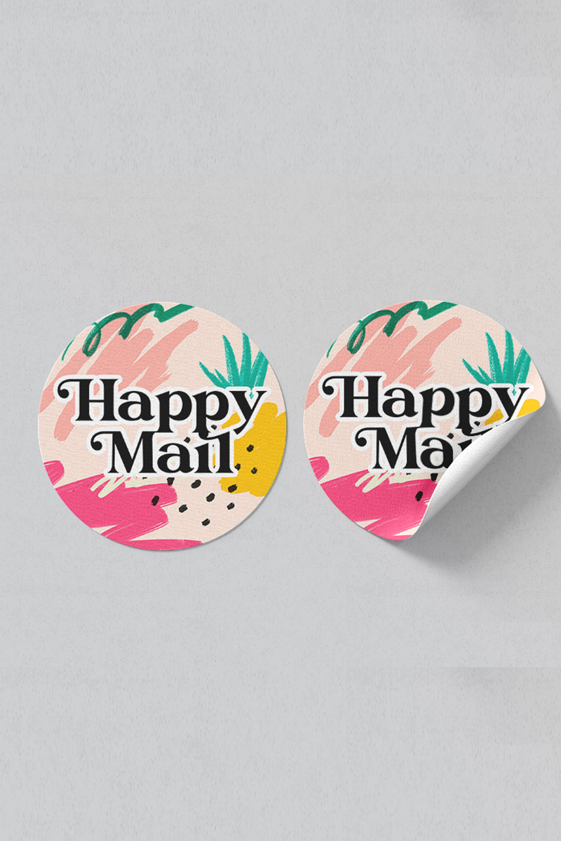 Happy Mail sticker pack #01 (16 stickers).
