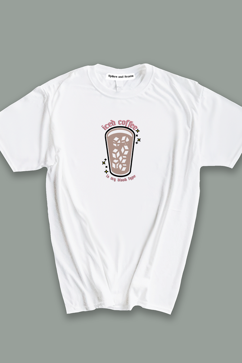 Iced Coffee is my Blood Type tee