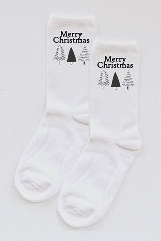 Merry Christmas Trees socks.