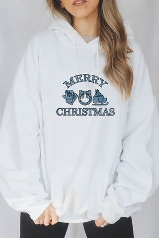 Watercolor Merry Christmas hoodie.