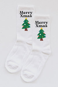 Merry Xmas Tree socks.