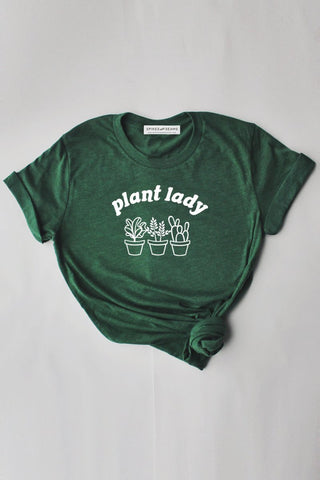 Plant Lady tee - green  - Spikes and Seams