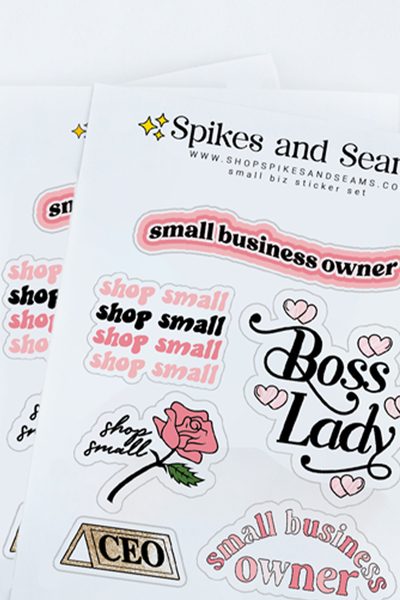 Small biz owner sticker pack.