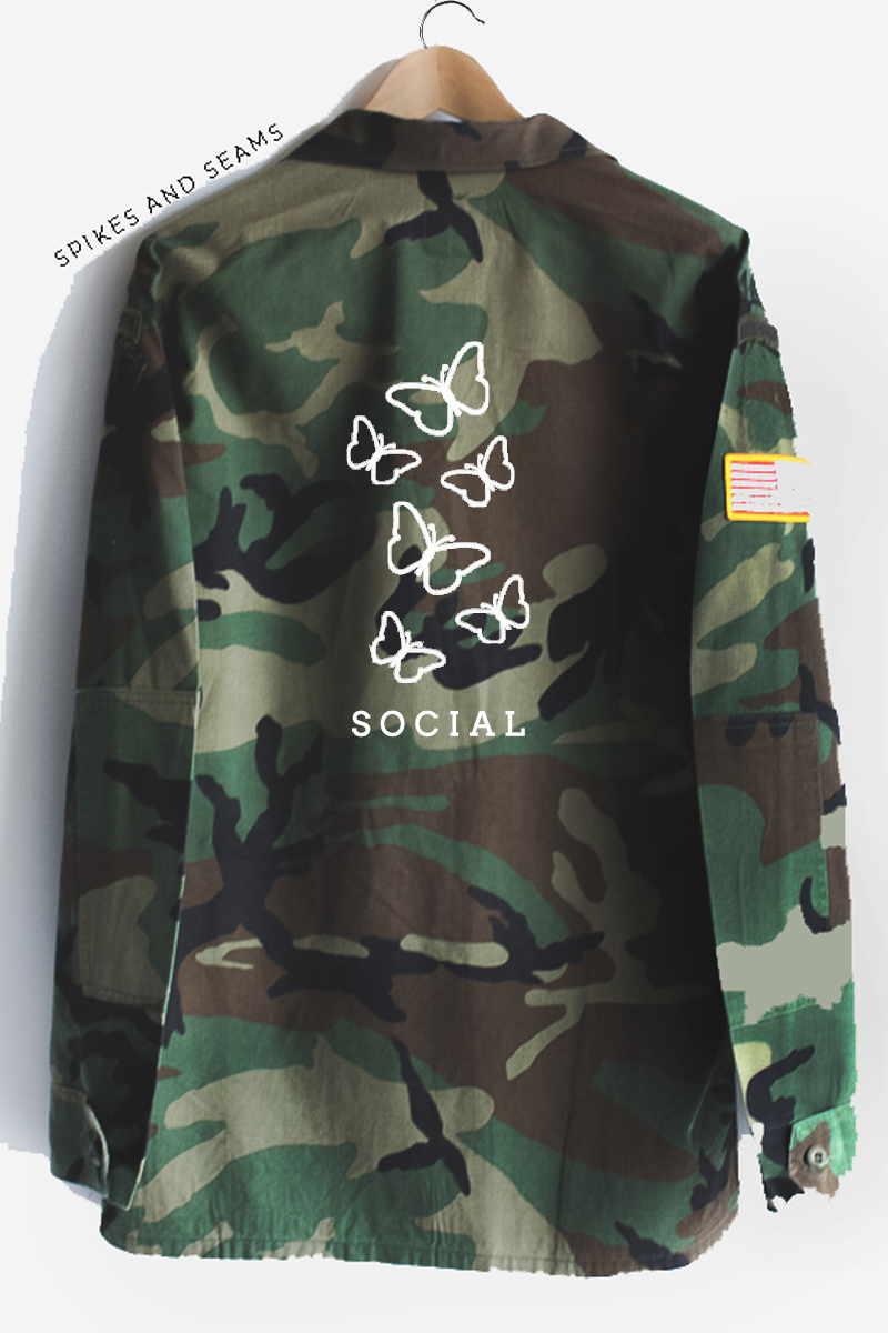 Social Butterfly Camo Jacket.