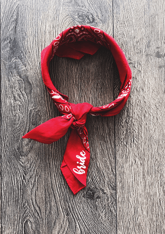 Custom bandana - red.