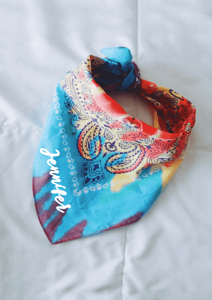 Custom bandana - rainbow  - Spikes and Seams