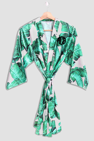 Custom Banana Leaf Robe - text on front