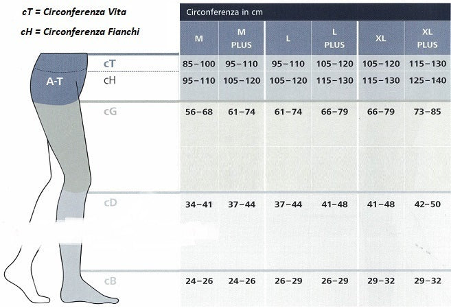 MONOCOLLANT COTTON  SIGVARIS SECONDA CLASSE DI COMPRESSIONE 23-32 mmHg