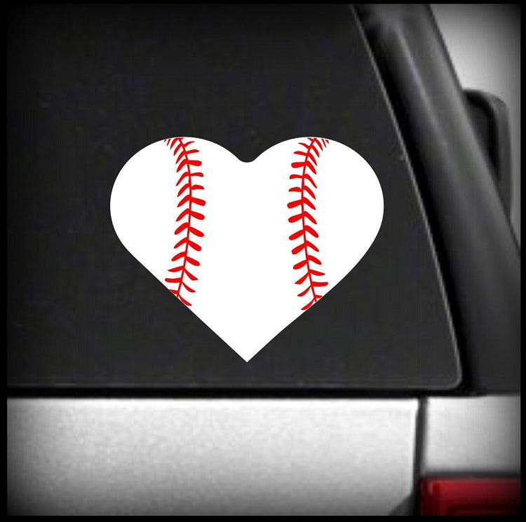 Baseball Heart Decal