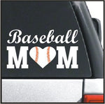 Baseball Mom Heart Decal