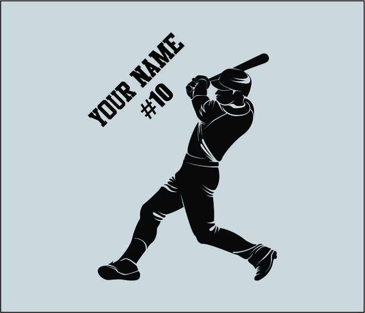Baseball Player Custom Wall Decal 3